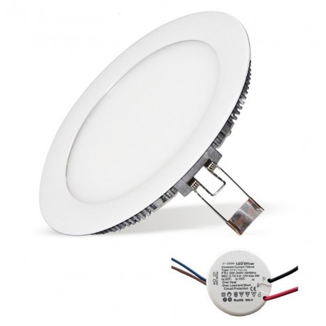 Plafonier Led 12W D170mm Blanc Neutre